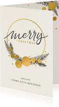 Geschäftliche Weihnachtskarte mit Tannenzweigen