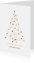 Geschäftliche Weihnachtskarte Verbindungen weiß