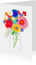 Geslaagd kaart bloemen PA
