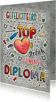Geslaagd van Harte gefeliciteerd diploma
