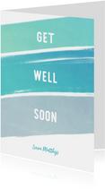 Get Well Soon beterschapskaart krijt man