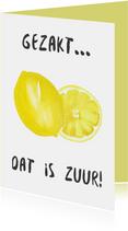 Gezakt kaart citroen