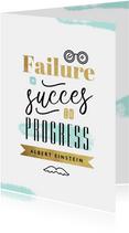Gezakt kaartje Einstein quote succes in progress