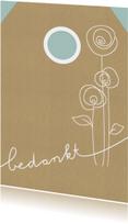 Bedankkaartjes - Gifttag Bedankkaart