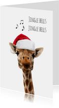 Giraf met kerstmuts-isf