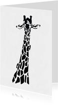 Giraffe illustratie zwart-wit