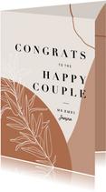 Glückwunsch-Karte Hochzeit Zweig Congrats