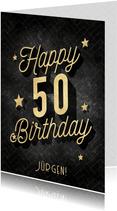 Glückwunschkarte 50. Geburtstag Vintage
