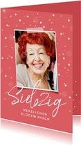 Glückwunschkarte 70. Geburtstag mit Foto