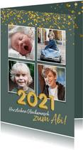 Glückwunschkarte Abitur bestanden Fotocollage