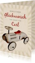 Glückwunschkarte Geburt Vintage-Auto