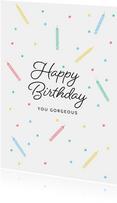 Glückwunschkarte Geburtstag bunte Kerzen