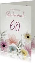 Glückwunschkarte Geburtstag elegante Blumen
