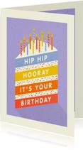 Glückwunschkarte Geburtstag Kuchen mit Kerzen