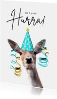 Glückwunschkarte Geburtstag lustiges Reh