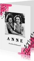 Glückwunschkarte Geburtstag mit Foto pink