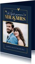 Glückwunschkarte Hochzeit Fotos Mr. & Mrs.