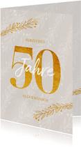 Glückwunschkarte Jubiläum oder Geburtstag 50