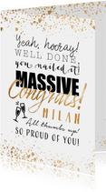 Glückwunschkarte Massive Congrats
