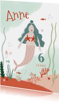 Glückwunschkarte Meerjungfrau