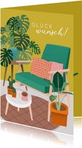 Glückwunschkarte neue Wohnung Vintagelook