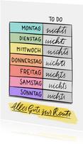 Glückwunschkarte Rente Kalender To Do Nichts