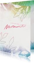 Glückwunschkarte Rente 'Live in the Moment'