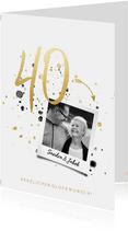 Glückwunschkarte Rubinhochzeit 40