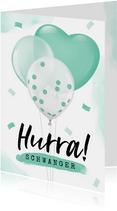 Glückwunschkarte Schwanger Luftballons