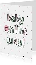 Glückwunschkarte Schwangerschaft Baby on the way