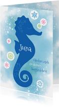 Glückwunschkarte Schwimmabzeichen Seepferdchen