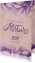 Glückwunschkarte zum Abitur Vintage