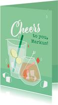 Glückwunschkarte zum Geburtstag 'Cheers to you'