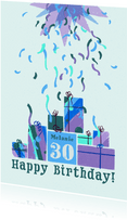 Glückwunschkarte zum Geburtstag Geschenke