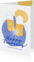 Glückwunschkarte zum Geburtstag 'Happy Beersday'