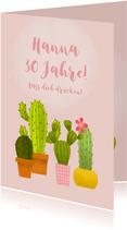 Glückwunschkarte zum Geburtstag Kaktus Lass dich drücken