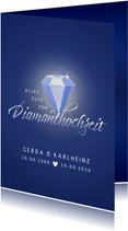 Glückwunschkarte zur Diamanthochzeit mit Diamant