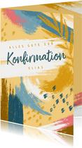 Glückwunschkarte zur Konfirmation - Abstrakt