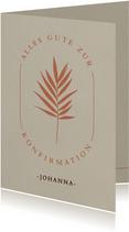 Glückwunschkarte zur Konfirmation mit Ast