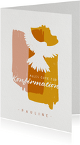 Glückwunschkarte zur Konfirmation mit Taube