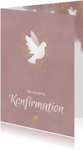 Glückwunschkarte zur Konfirmation weiße Taube