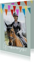 Glückwunschkarte zur Reiterprüfung / Prüfung