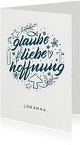 """Glückwunschkarte zur Taufe """"Glaube Liebe Hoffnung"""""""