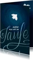 Glückwunschkarte zur Taufe mit Taube
