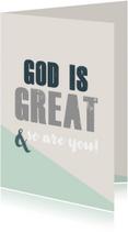 Religie kaarten - God is great - BF