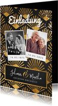 Goldene Hochzeit Einladung Fotos & Golddekor