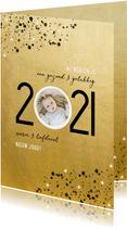 Goudlook nieuwjaarskaart 2021 spetters en foto