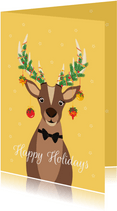 Grappig en lieve Rudolf wenst jullie fijne feestdagen
