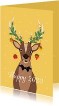 Grappig en lieve Rudolf wenst jullie een fijn en happy 2020