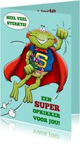 Grappige beterschapskaart met super-opkikker